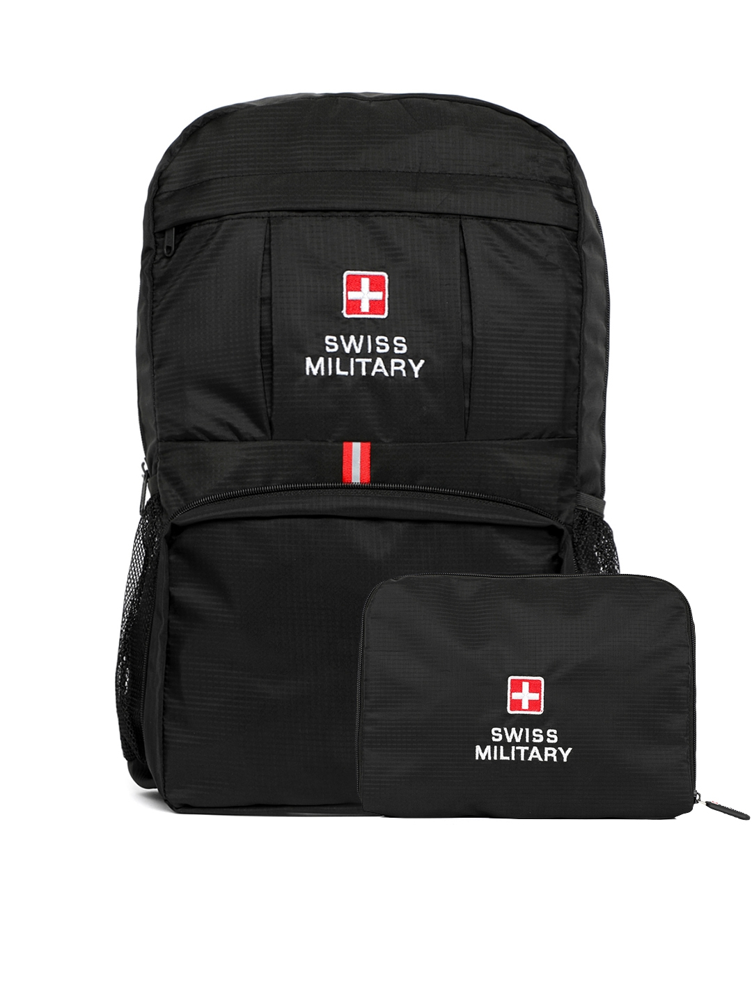 SWISS MILITARY Unisex Black Solid Backpack