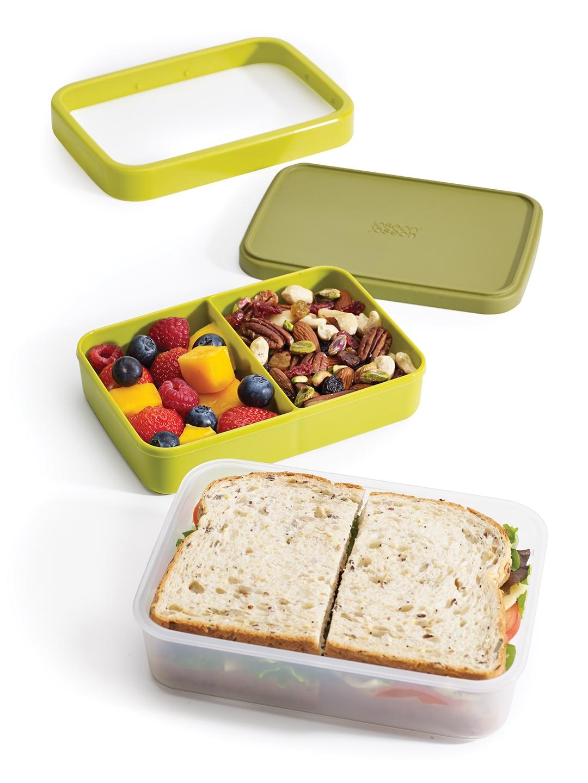Joseph Joseph Compact Green 2 in 1 Lunch Box Joseph Joseph Kitchen Storage