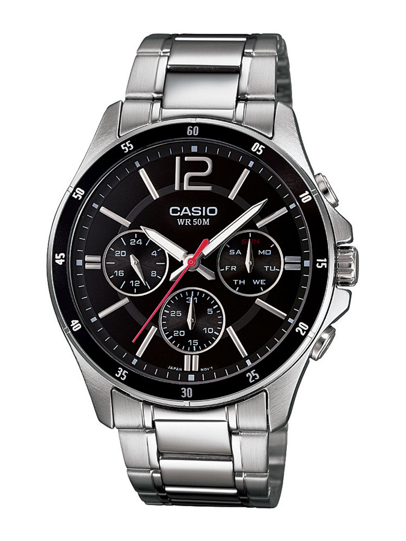 CASIO Enticer Men Black Multi Dial Watch MTP 1374D 1AVDF   A832