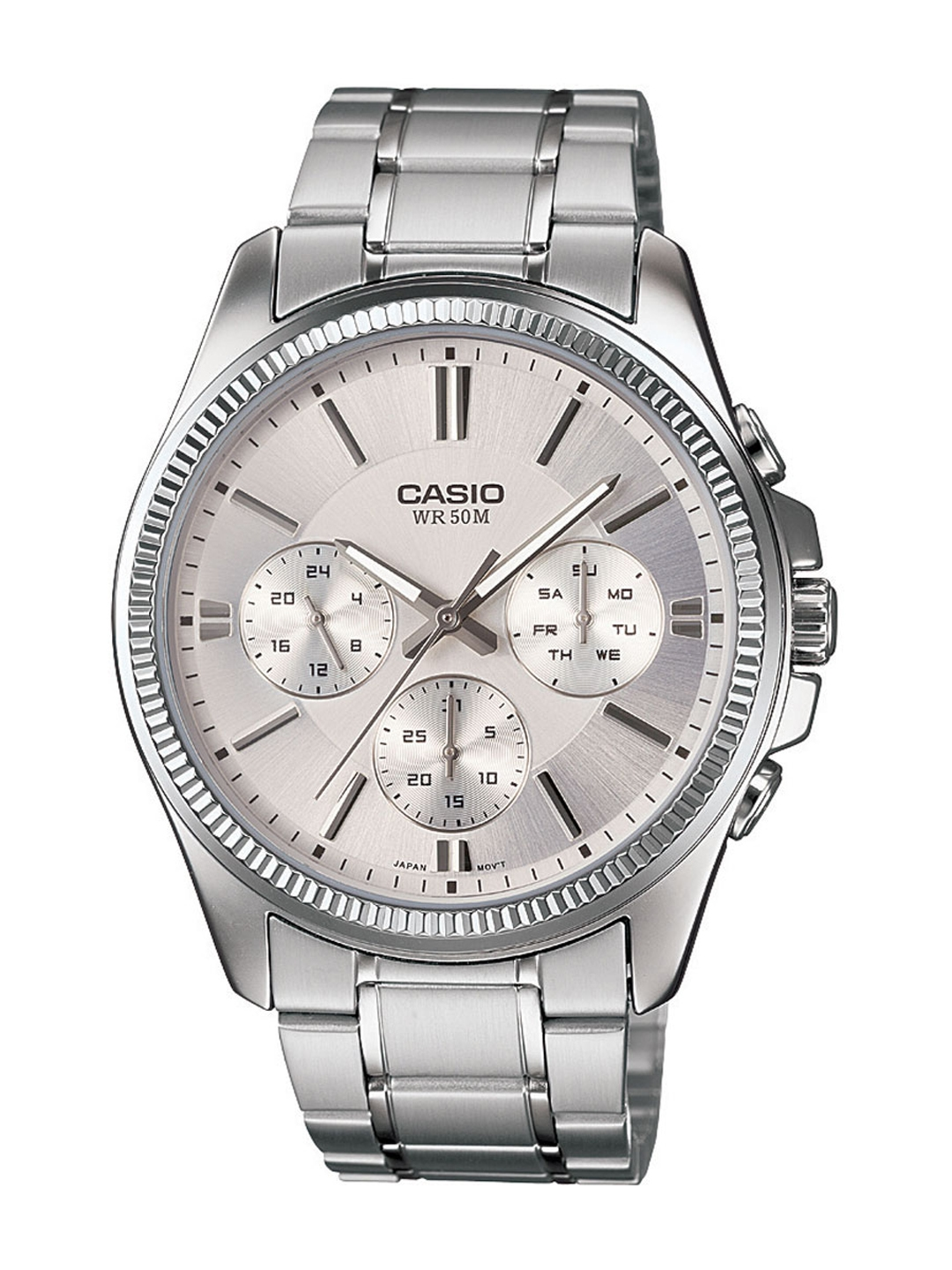 Casio Enticer Men Silver Analogue watch A837 MTP 1375D 7AVDF