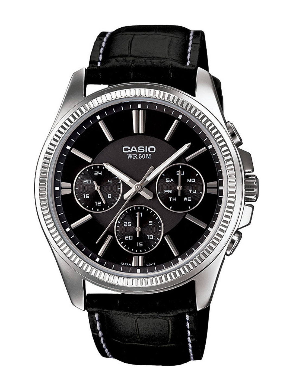 Casio Enticer Men Black Analogue watch A838 MTP 1375L 1AVDF
