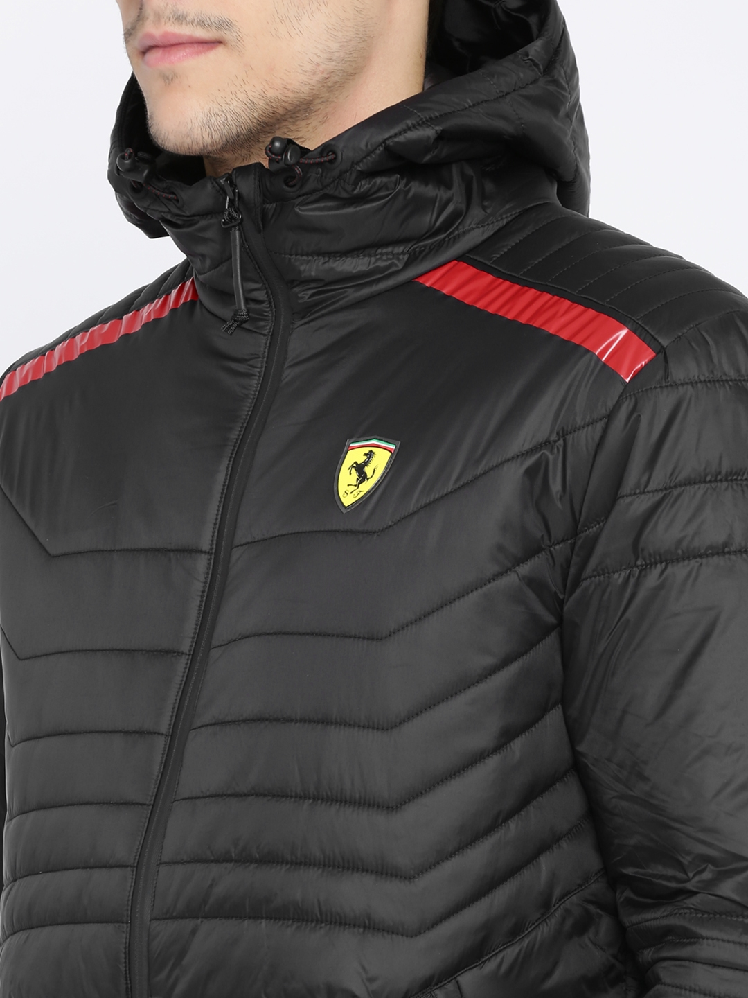 8b368f06e7da Buy Puma Men Black SF Vent Solid Padded Jacket - Jackets for Men ...