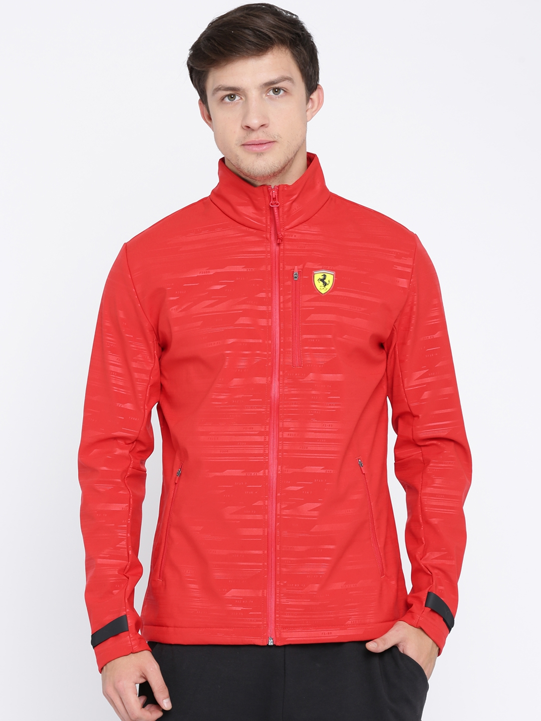 36d43d762473e9 Buy Puma Ferrari Men Red SF Softshell Printed Sporty Jacket ...