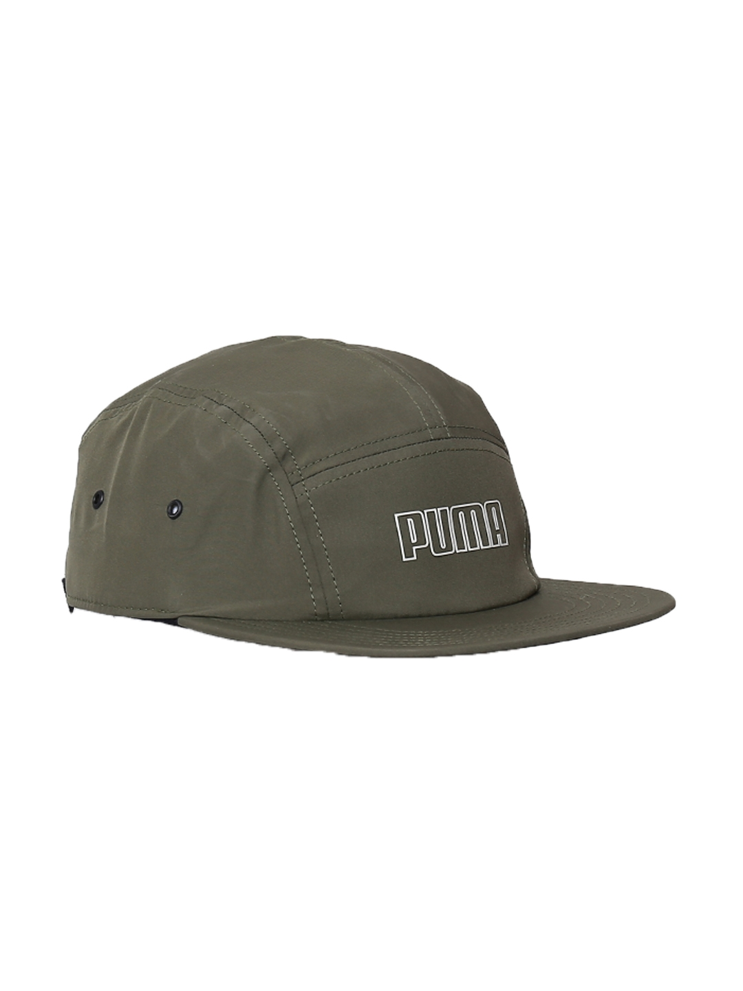 590a91f4ba8 Buy Puma Unisex Olive Green ARCHIVE 5 Panels Cap - Caps for Unisex ...