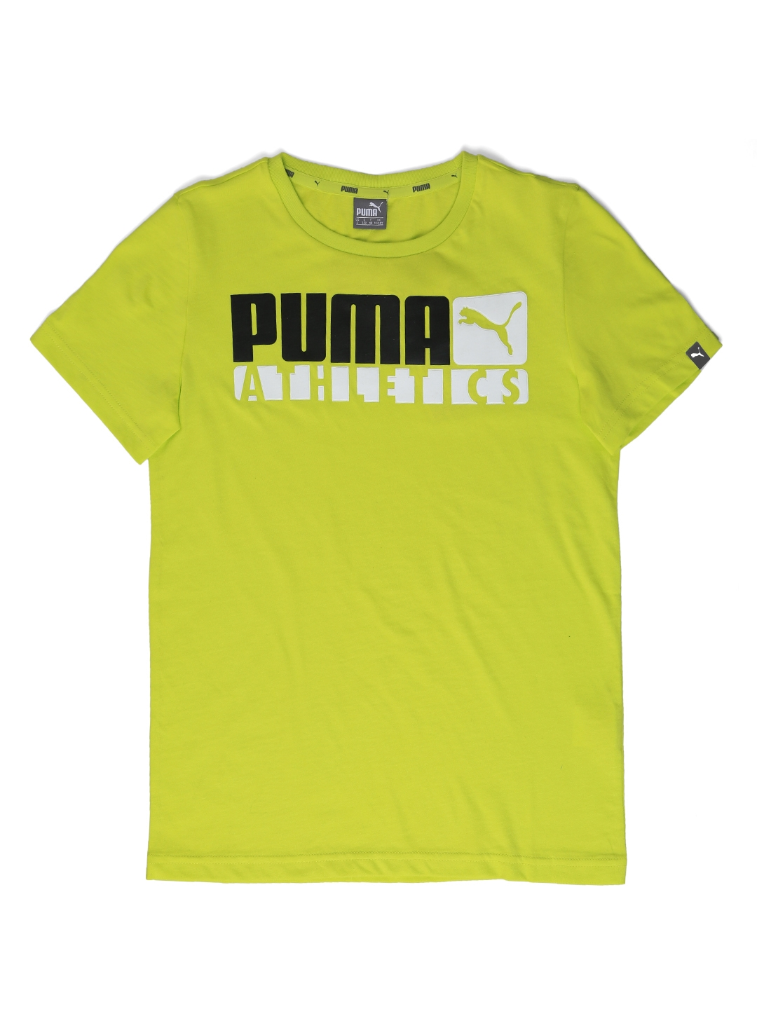 323bcd84c13b Buy Puma Boys Lime Green Printed Round Neck STYLE Graphic T Shirt ...