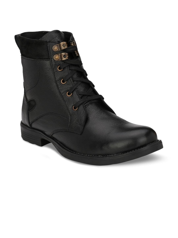 95dec47cb499fc Buy Guava Men Black Flat Boots - Casual Shoes for Men 2347725   Myntra