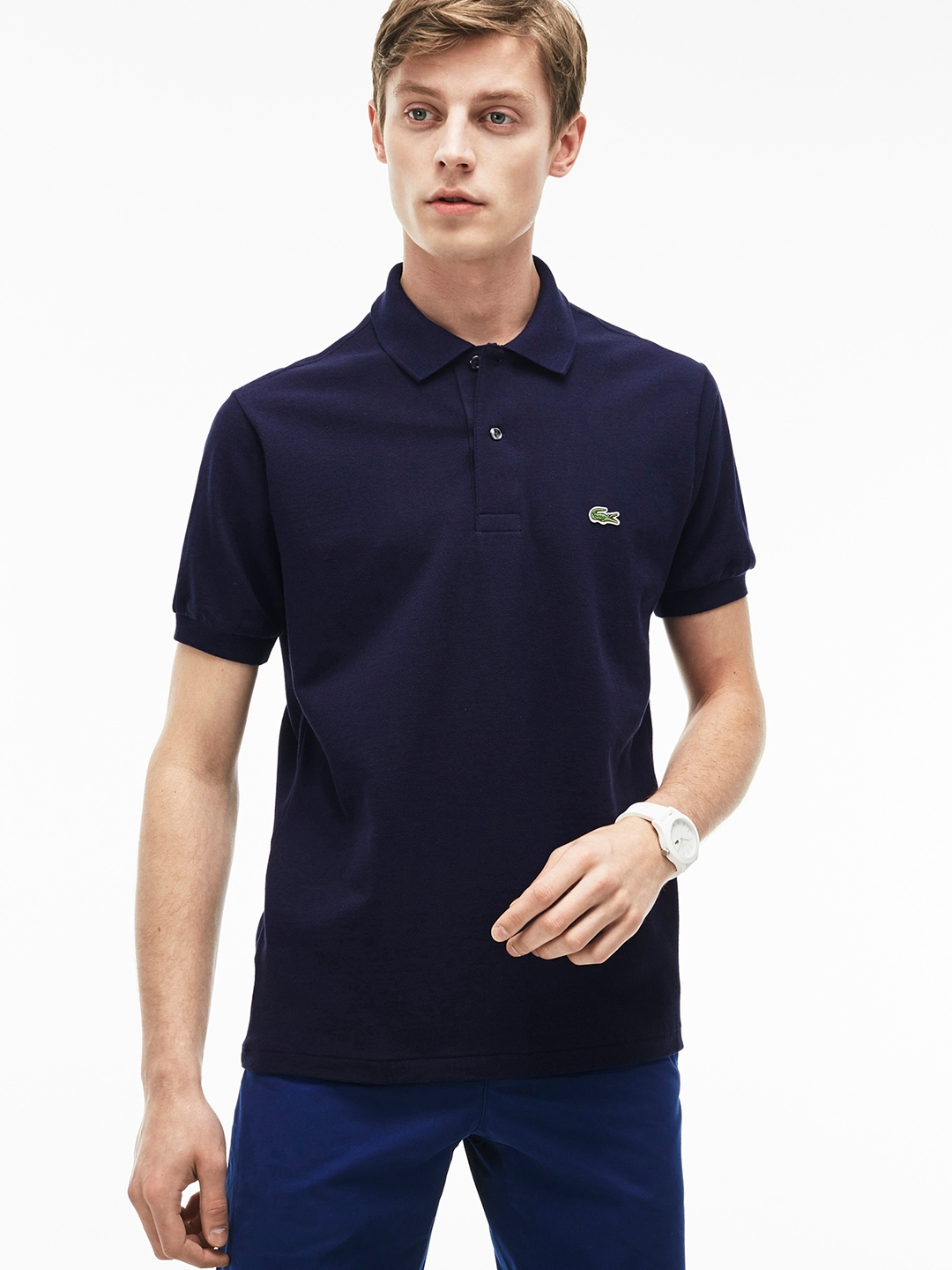 57a9181bc Buy Lacoste Men Navy Blue Marl L.12.12 Polo - Tshirts for Men ...