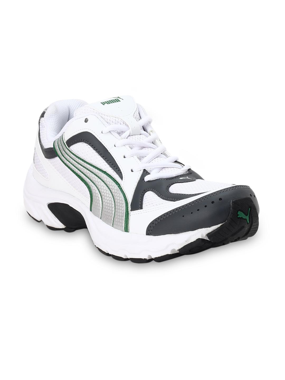 Buy Puma Men White   Black Mesh Ceylon II Ind. Running Shoes ... 21a0959e7