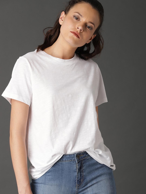white crew neck t shirt womens