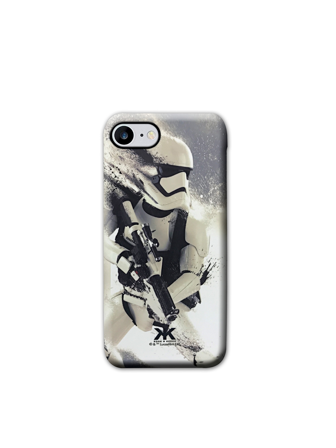 Kook N Keech Off White   Grey Storm Trooper Print iPhone 6   6S Mobile Case