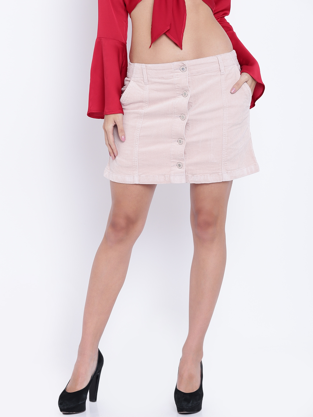 1c080e2d6 Buy FOREVER 21 Dusty Pink Corduroy Mini A Line Skirt - Skirts for ...