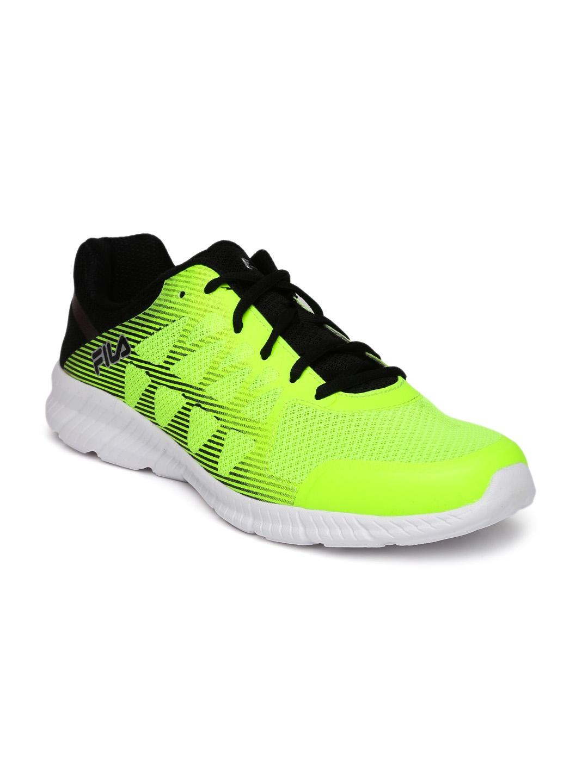 84b942703945 Buy FILA Men Fluorescent Green MEMORY FINITY Running Shoes - Sports ...