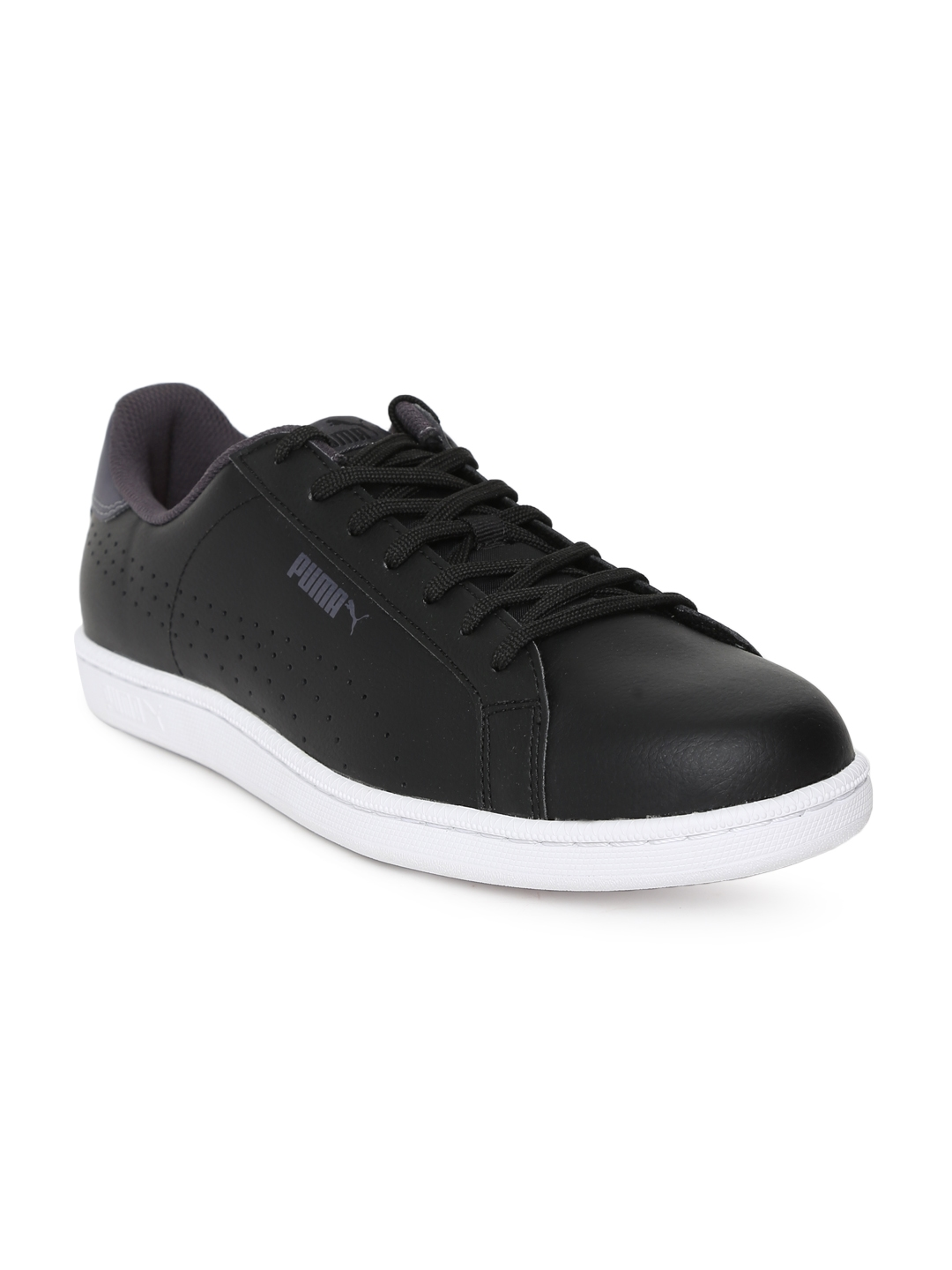 Buy Puma Men Black Smash Leather Sneakers Casual Shoes for