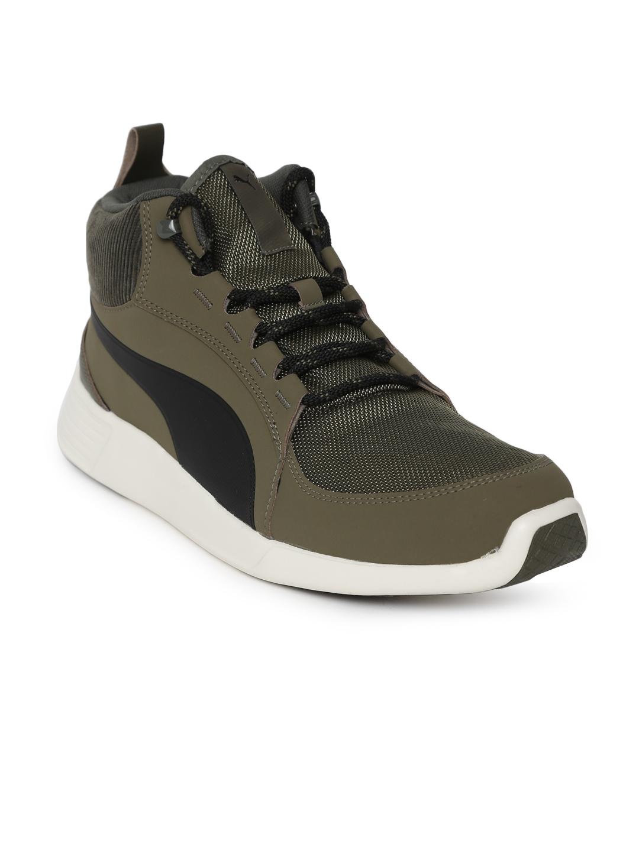 ea7ca46172192 Puma Men Olive Green ST Trainer Evo Demi v2 Corduroy IDP Sneakers