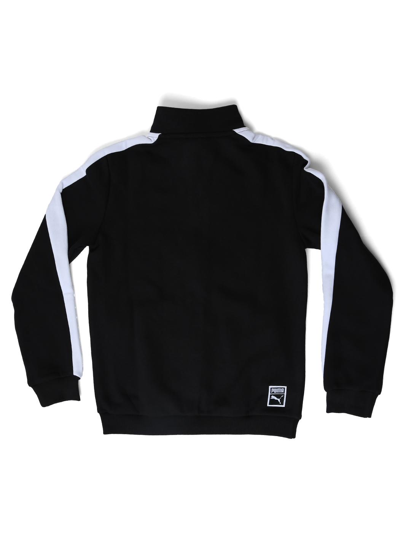 5bcb6560aaa7 Buy Puma Boys Black Classic T7 Solid Sweatshirt - Sweatshirts for ...