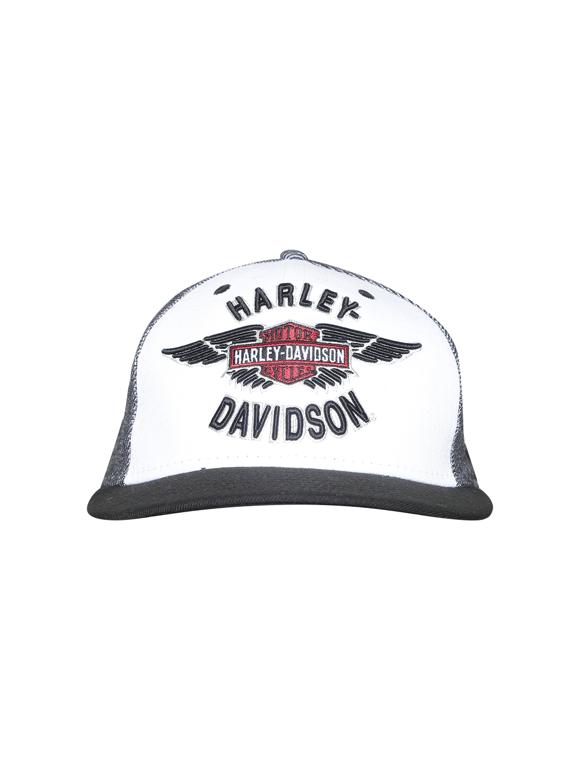 df09b2c24150b Buy Harley Davidson Men White   Black Embroidered Baseball Cap ...