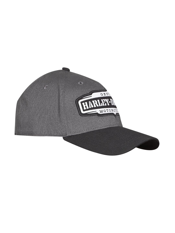 6d6d01f3e04 Buy Harley Davidson Men Charcoal Grey   Black Solid Baseball Cap ...