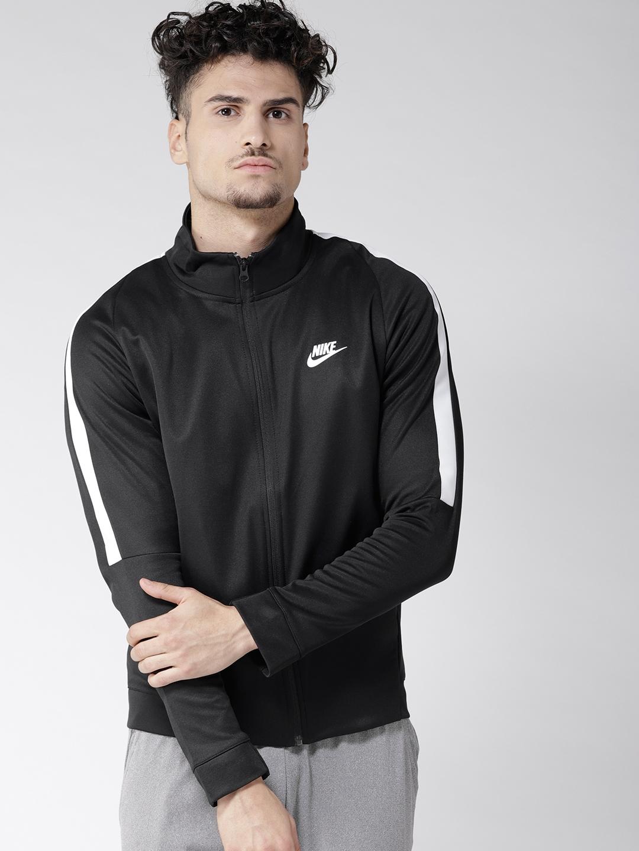 2a8622a3 Buy Nike Men Black Solid Sporty AS M NSW N98 JKT PK TRIBUTE Jacket ...
