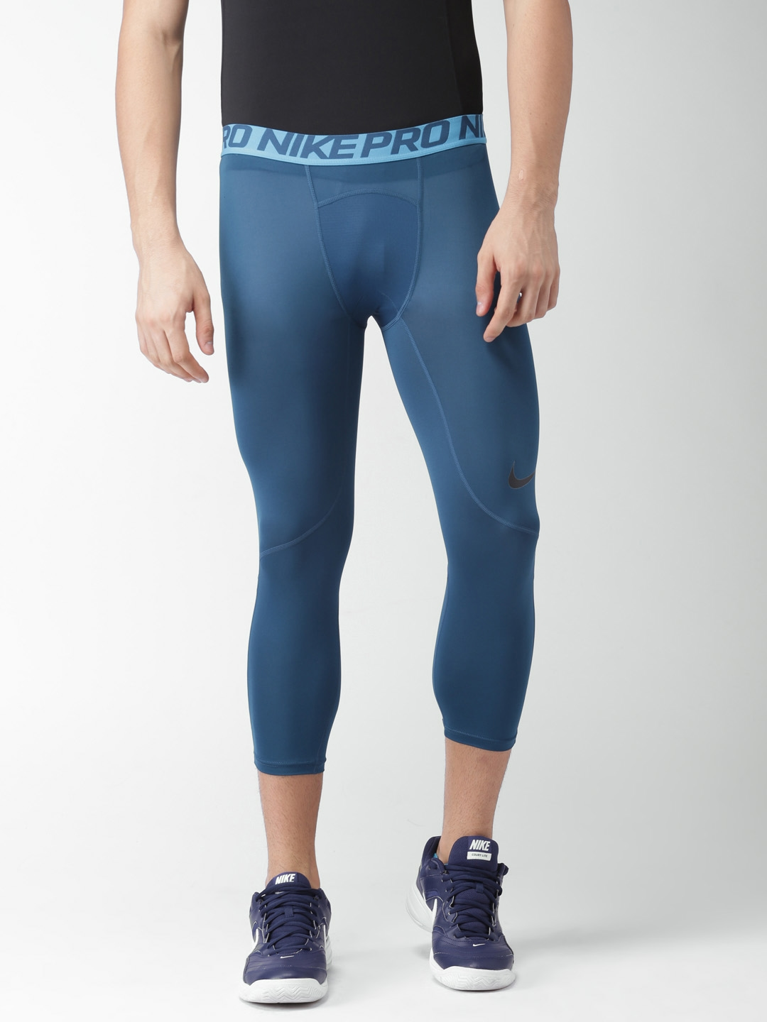 c5f2801663472 Buy Nike Blue Printed Compression Pro Tights - Tights for Men ...