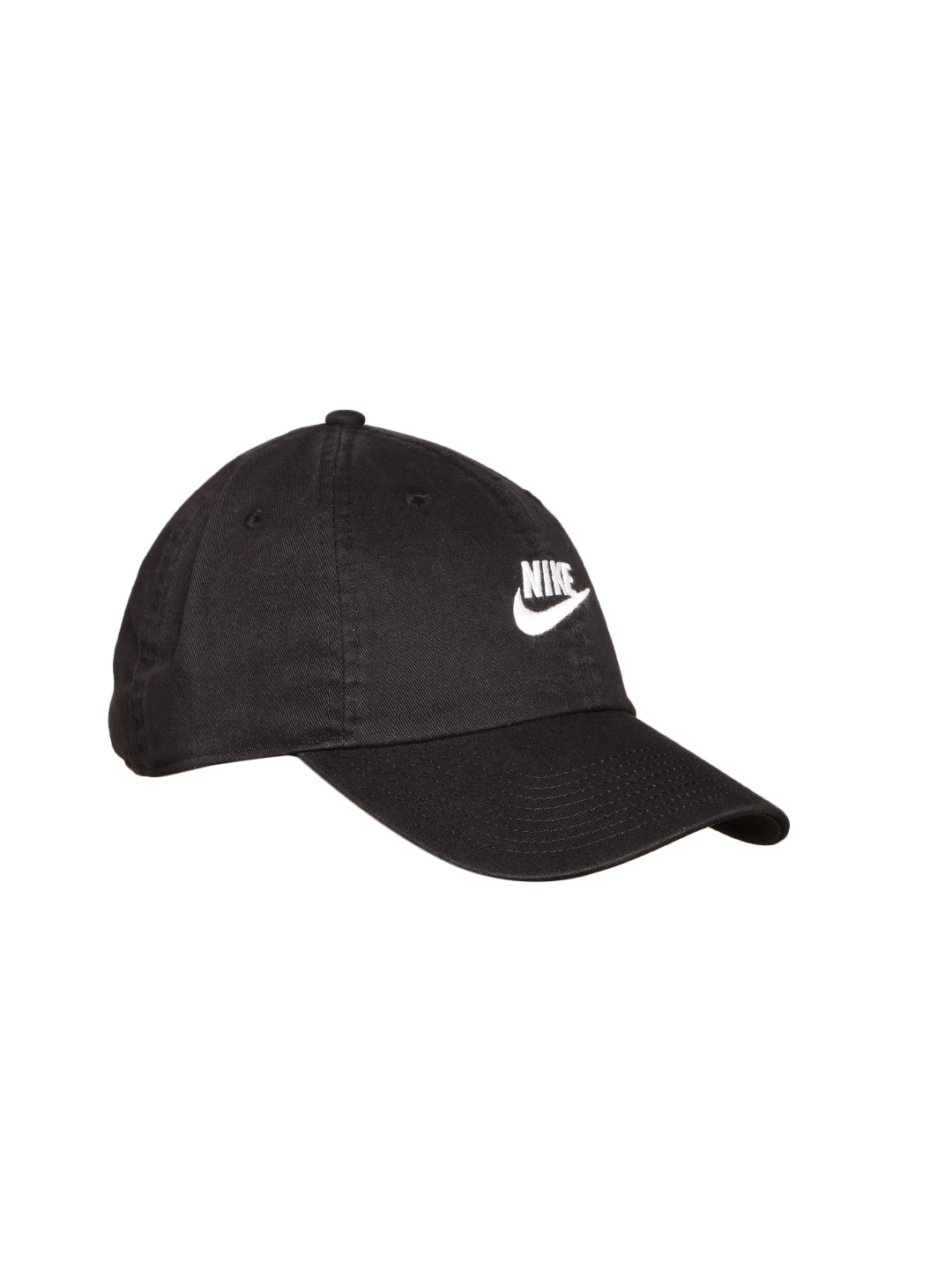 5dbe61a59f30d Buy Nike Unisex Black NSW H86 Futura Washed Solid Cap - Caps for ...