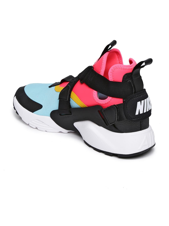 9cd9c3a2df99 Nike Women Multicoloured Colourblocked AIR HUARACHE CITY Textile Mid-Top  Sneakers