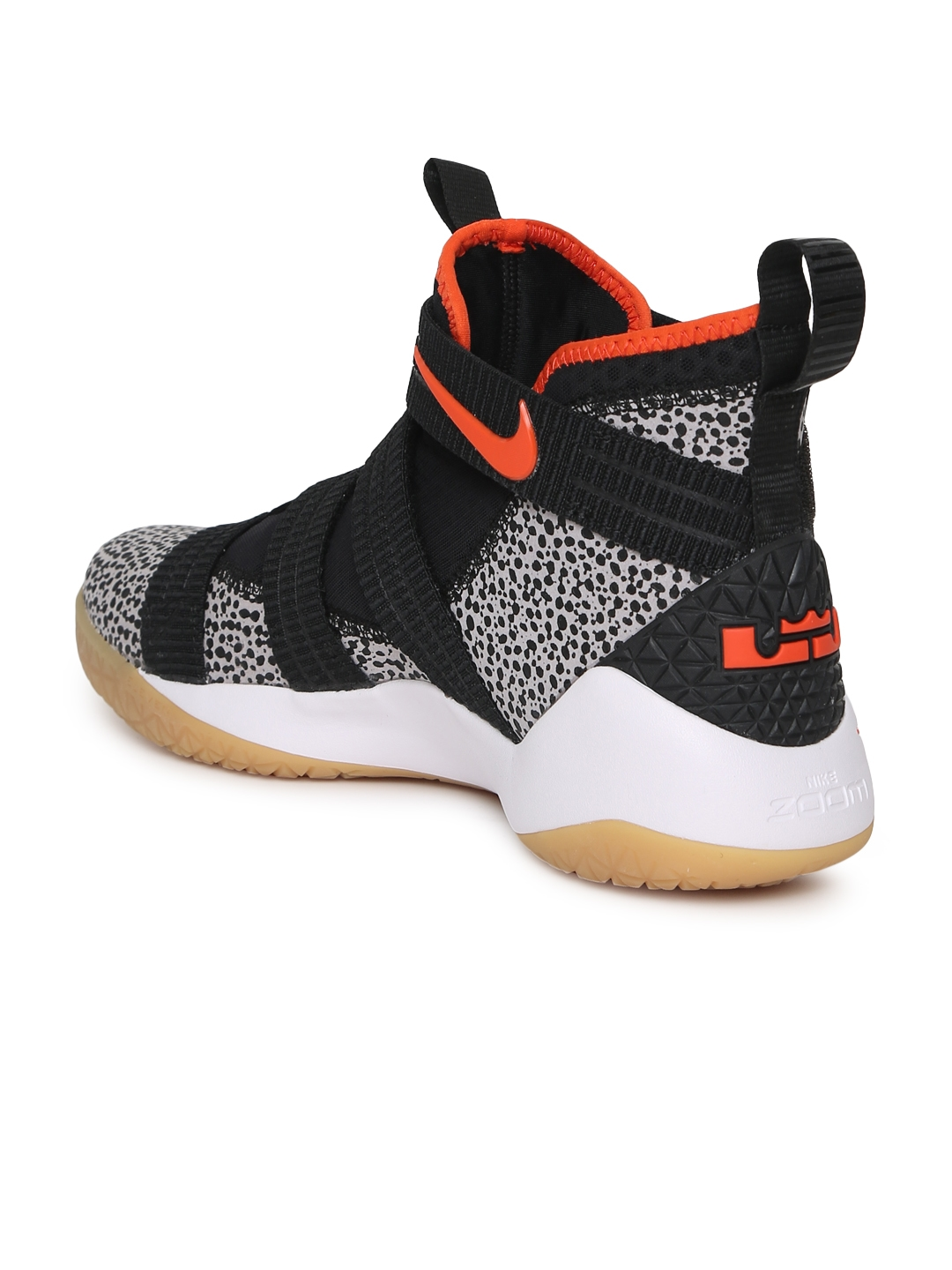 778798f048e Buy Nike Men Black Leather Mid Top LEBRON SOLDIER XI SFG Basketball ...