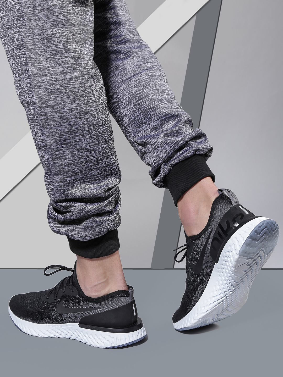 c29dc32f721 Buy Nike Men Black EPIC REACT FLYKNIT Running Shoes - Sports Shoes ...