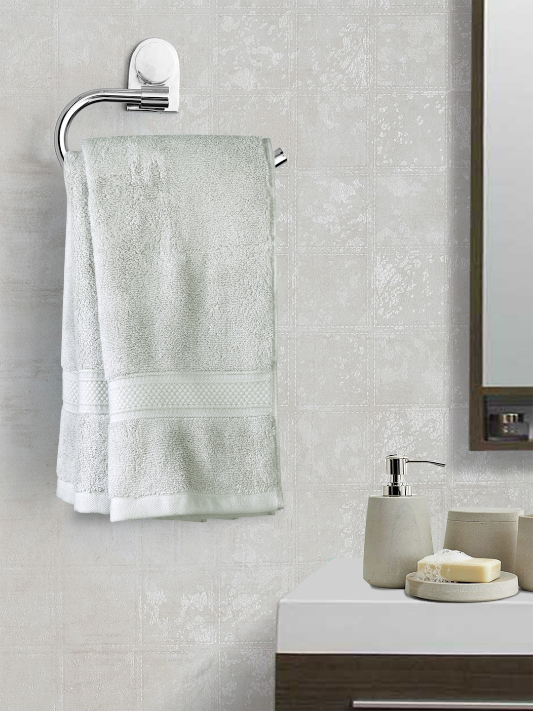 Trident Silver Set Of 2 600 GSM Hand Towels