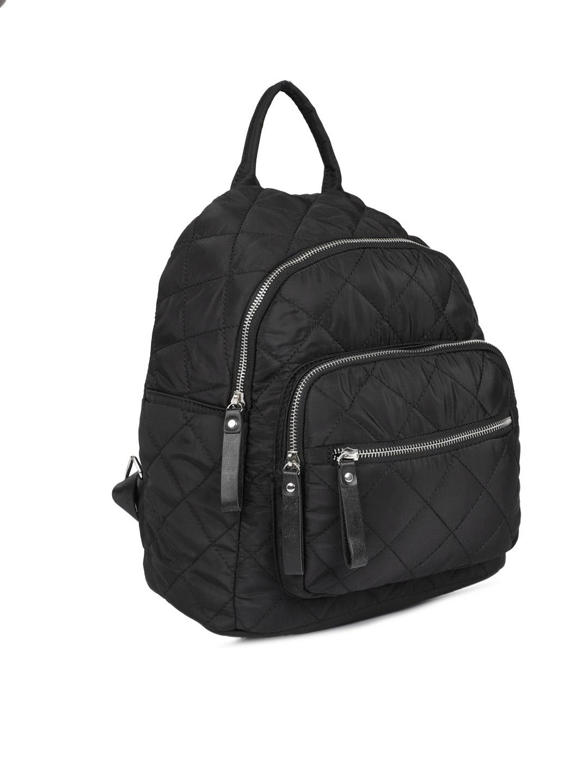 1fb0cfee2 Buy Roadster Women Black Quilted Backpack - Backpacks for Women ...