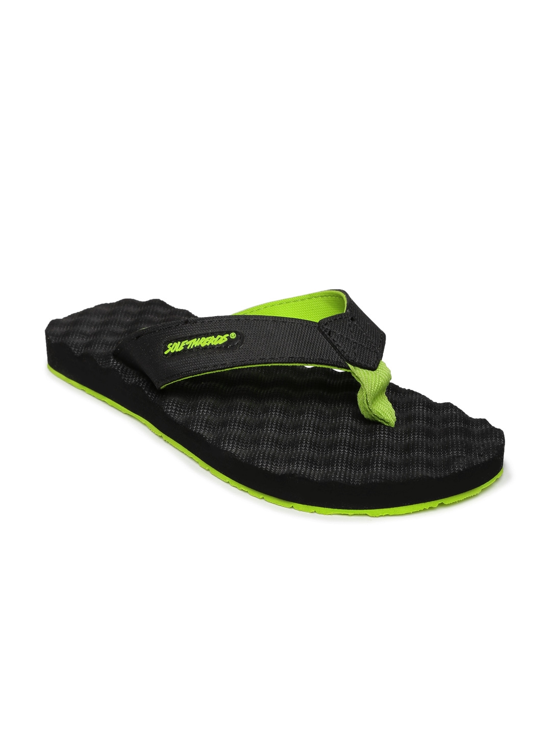 b16d6649273f Buy Sole Threads Men Black Flip Flops - Flip Flops for Men 237398 ...