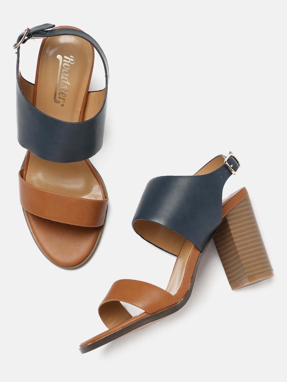 e785dabdc Buy Roadster Women Brown Solid Sandals - Heels for Women 2375017 ...