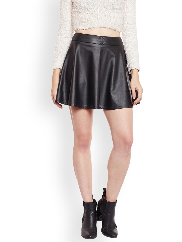 c3e74e4191 Buy Zastraa Black Flared A Line Skirt - Skirts for Women 2375349 ...