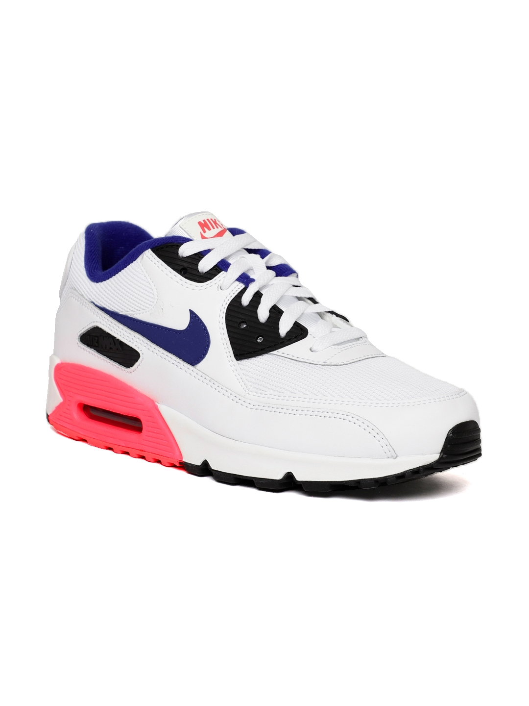 detailed look 69899 ed712 Nike Men White Air Max 90 Essential Leather Sneakers