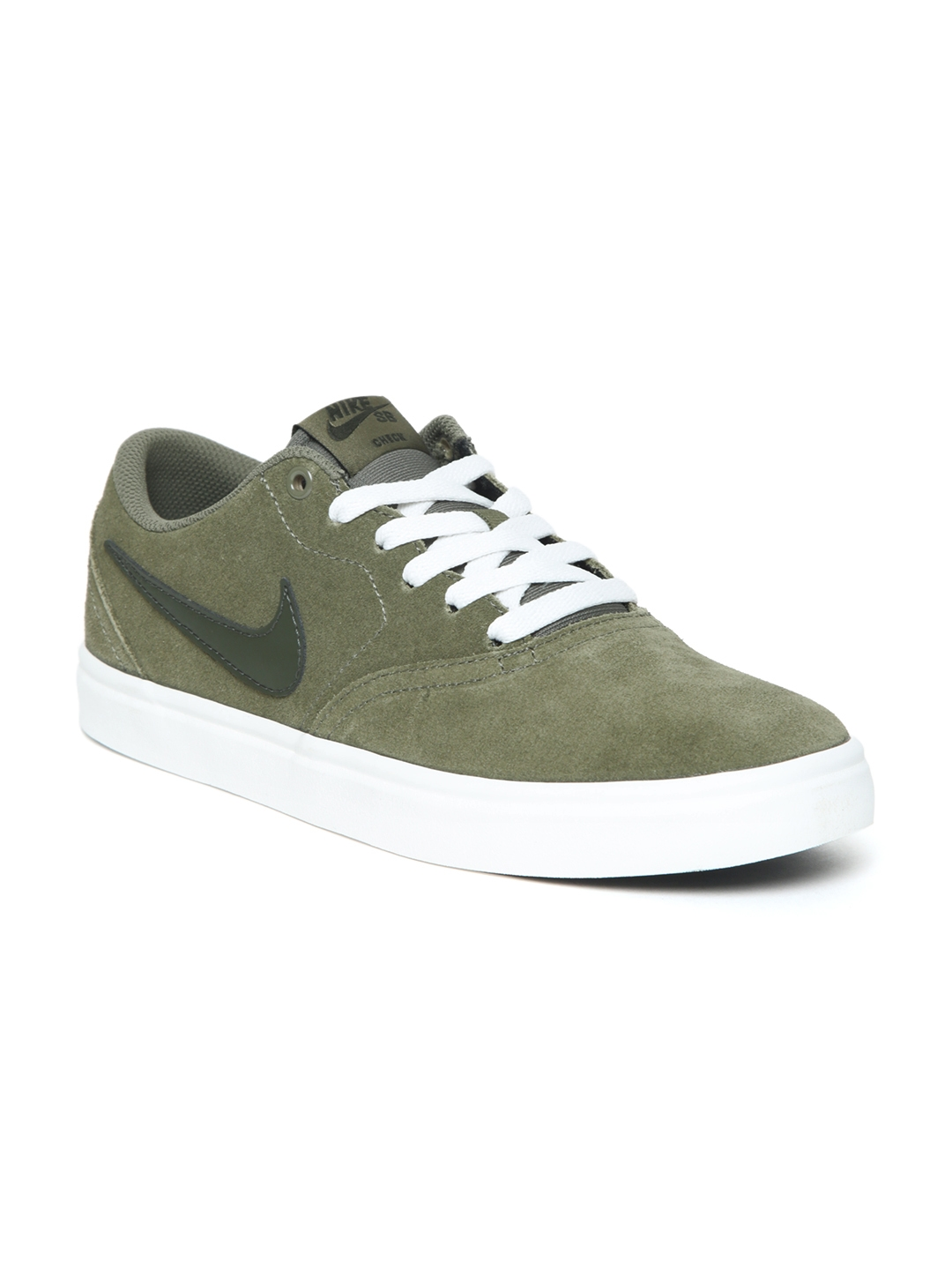 wholesale dealer 5f99b 5b570 Nike Men Olive Green SB CHECK SOLAR Skate Shoes