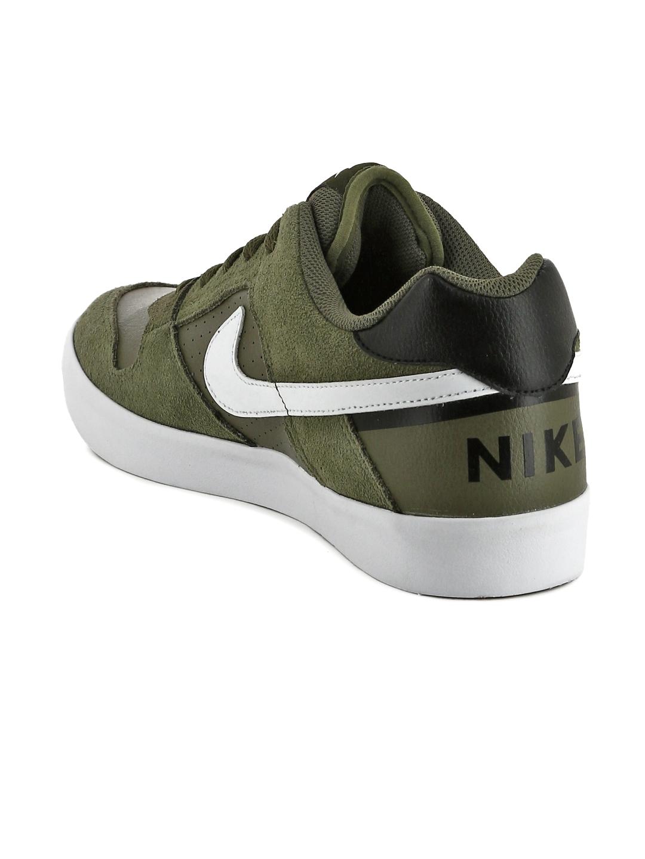 new style e1552 ebe1d Nike Men Green SB Delta Force Skate Shoes