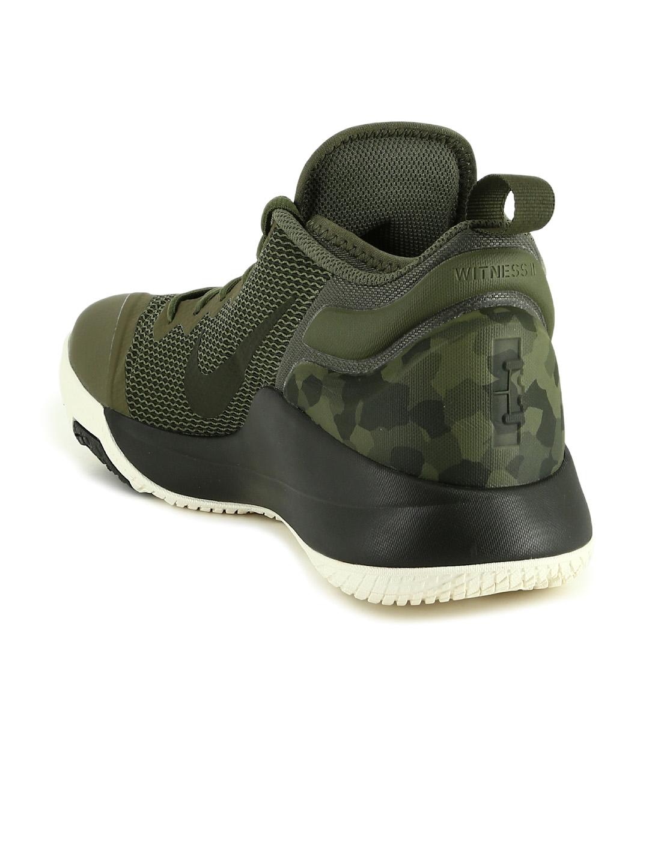 0a225496aa7b Buy Nike Men Olive Green Textile Lebron Witness II Basketball Shoes ...