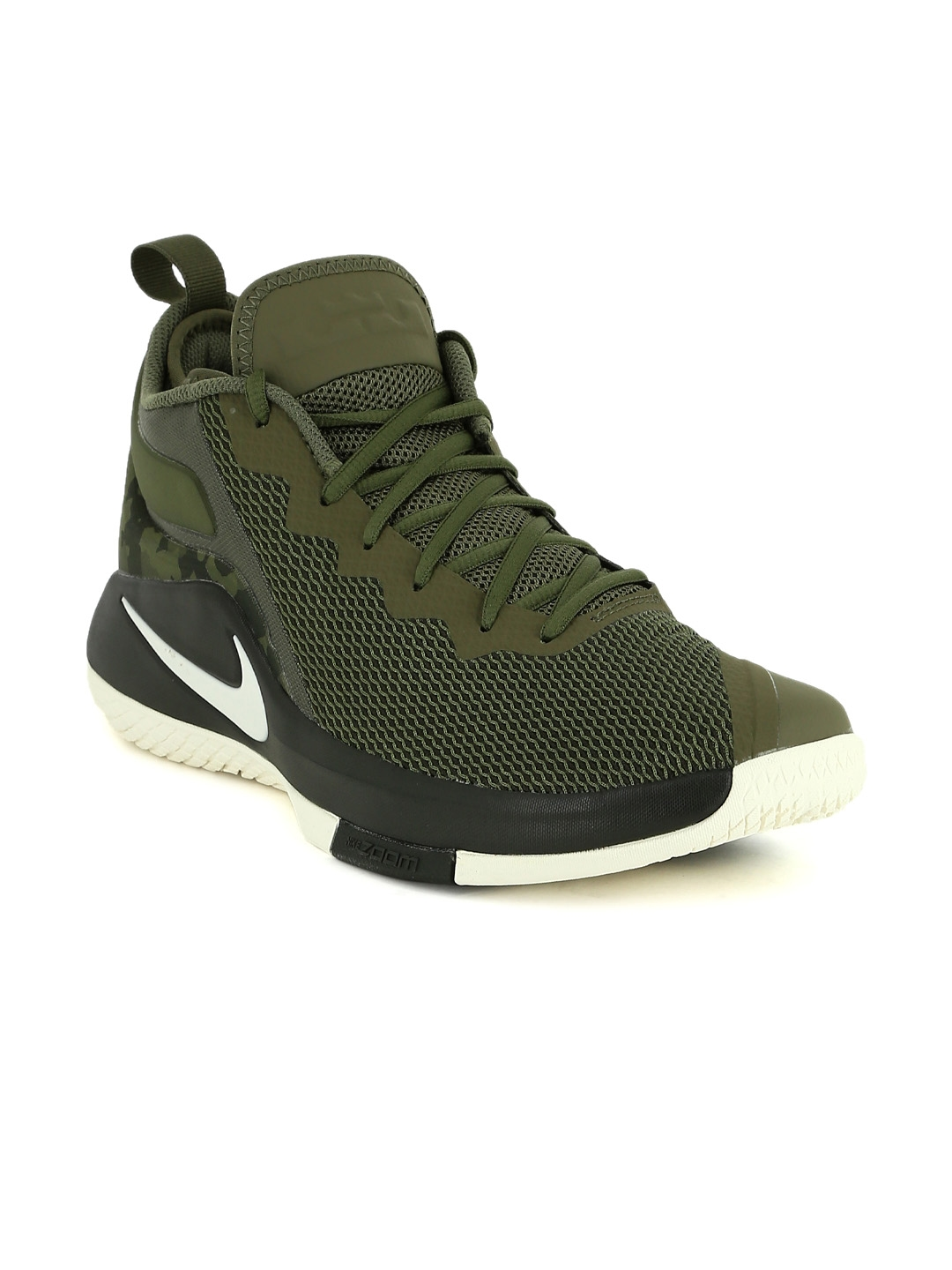 outlet store 34e1b dcd5a ... inexpensive nike men olive green textile lebron witness ii basketball  shoes 6a3bb ca94d
