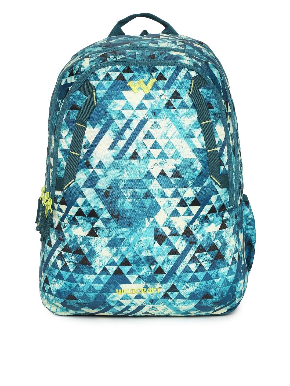Buy Wildcraft 4 Geo Camo Unisex Blue   White Graphic Backpack ... 1ffc1ef0e937d