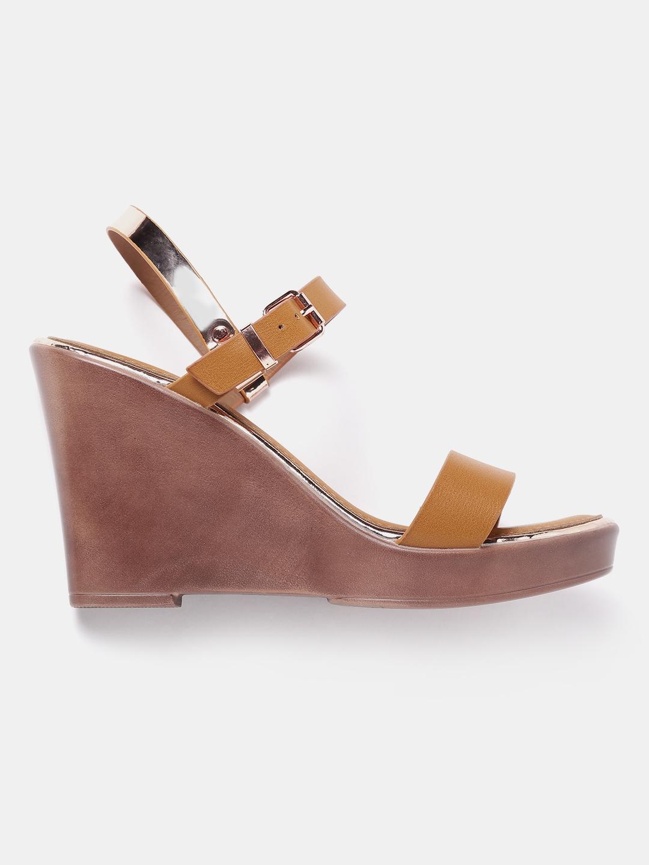 42d227a45 Buy Roadster Women Brown Solid Sandals - Heels for Women 2382298 ...