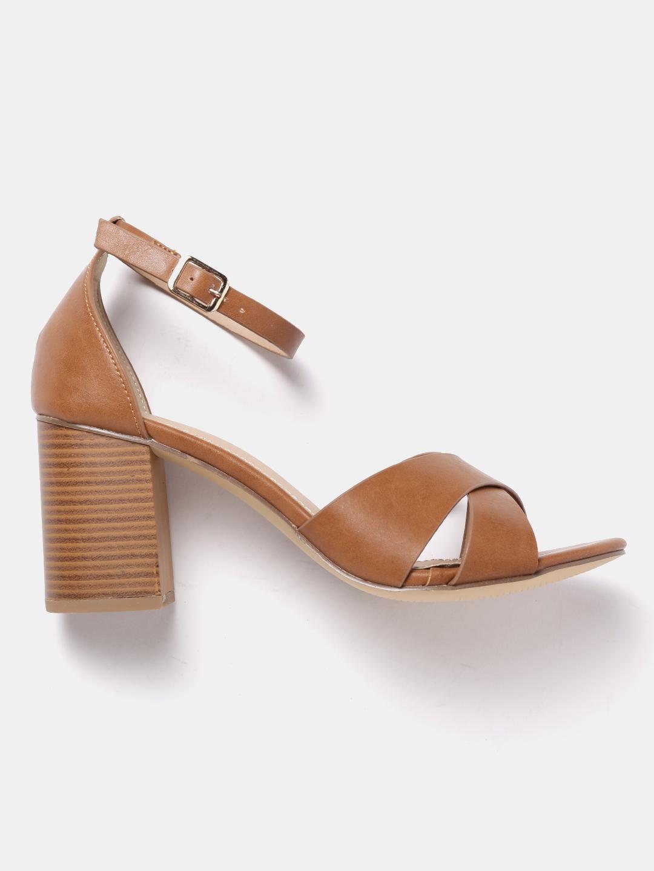 783045d8e Buy Roadster Women Brown Solid Sandals - Heels for Women 2382304 ...