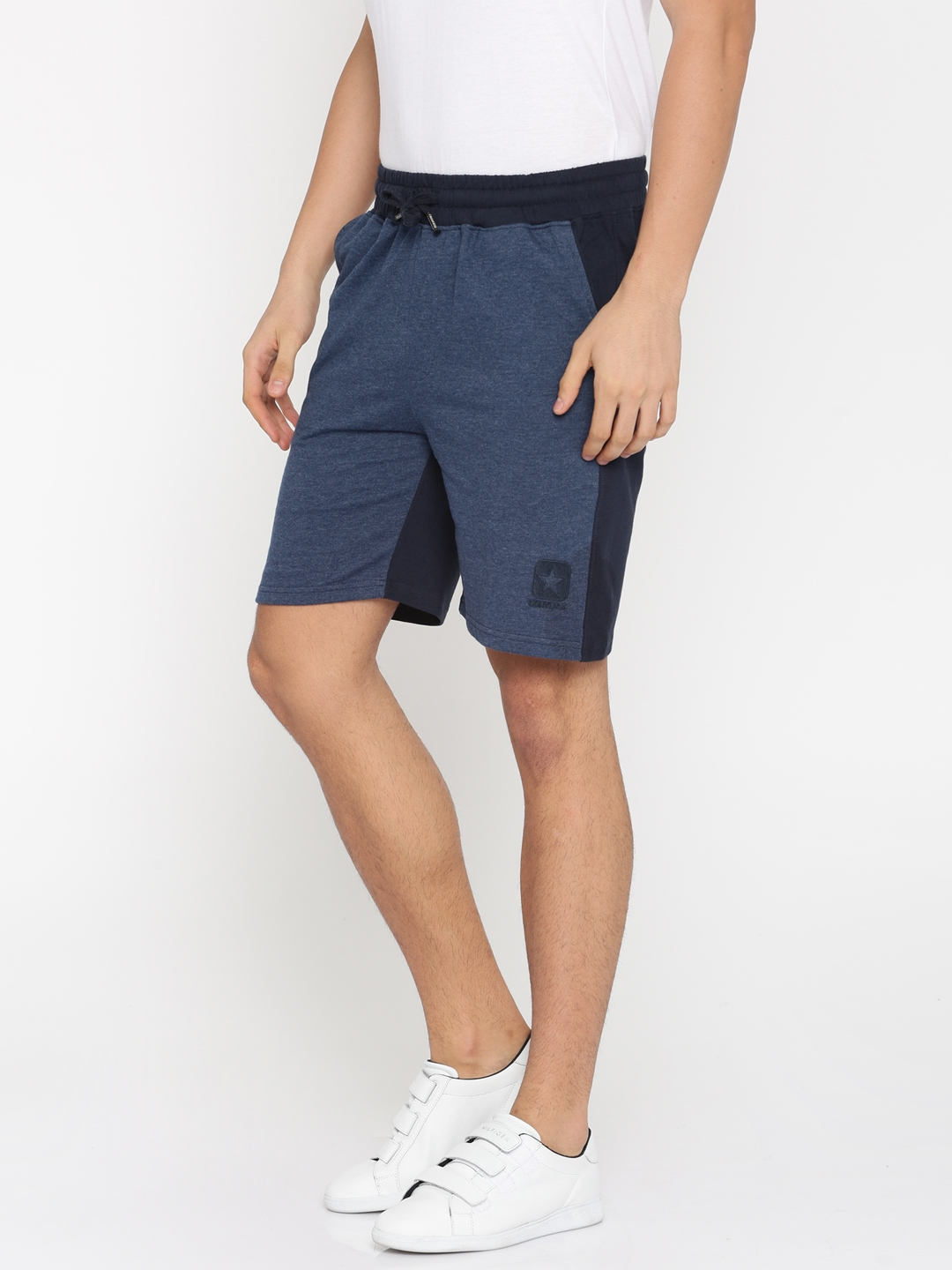 1189cfa5e3ac Buy Converse Men Navy Blue Solid Regular Fit Regular Shorts - Shorts ...