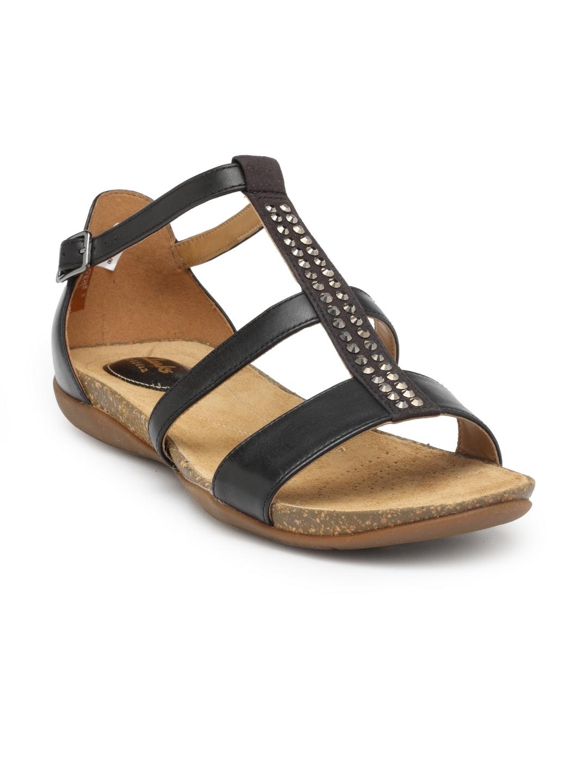 clarks open toe flats