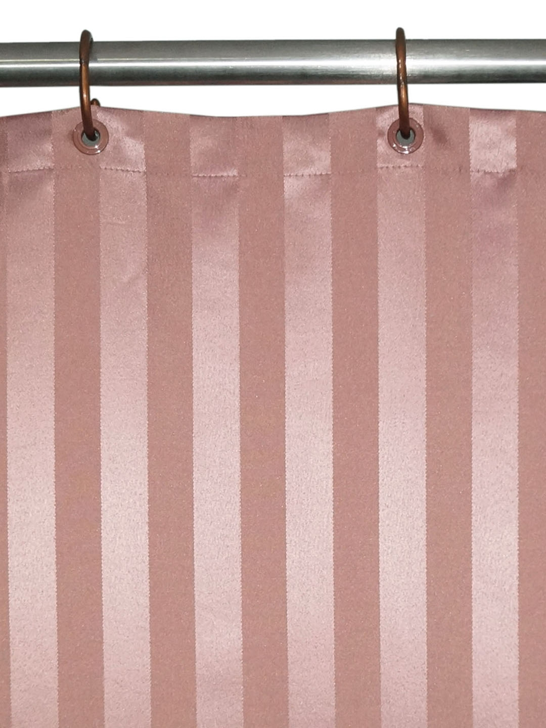 Buy Lushomes Pink Striped Shower Curtain