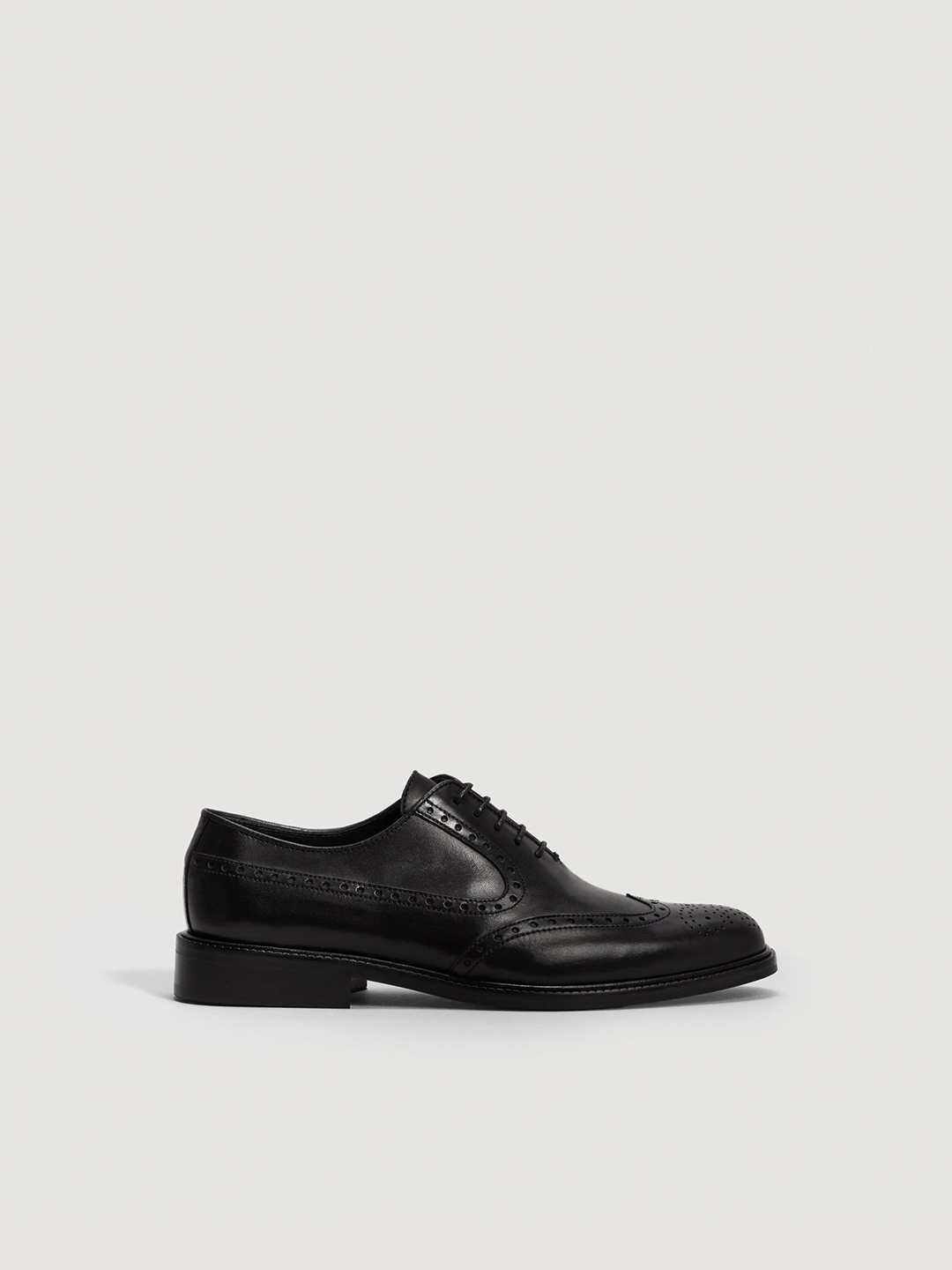 03e5d8a7d88 Buy MANGO MAN Black Leather Formal Oxfords - Formal Shoes for Men ...