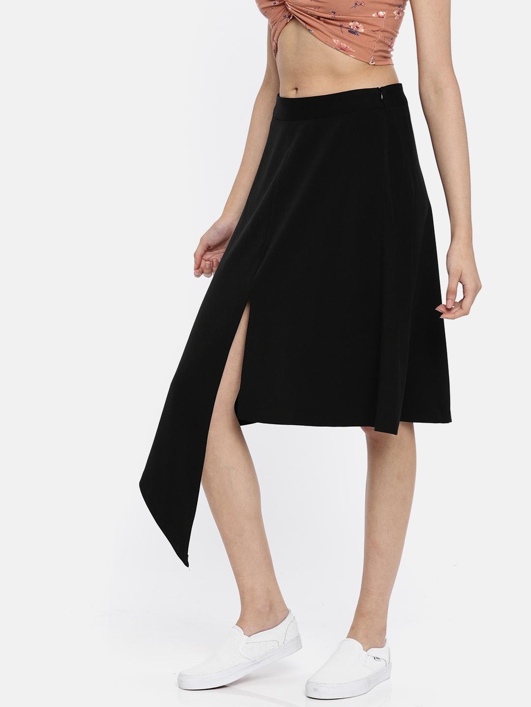 e19ba29ea7 Buy Vero Moda Black A Line Skirt - Skirts for Women 2391951 | Myntra