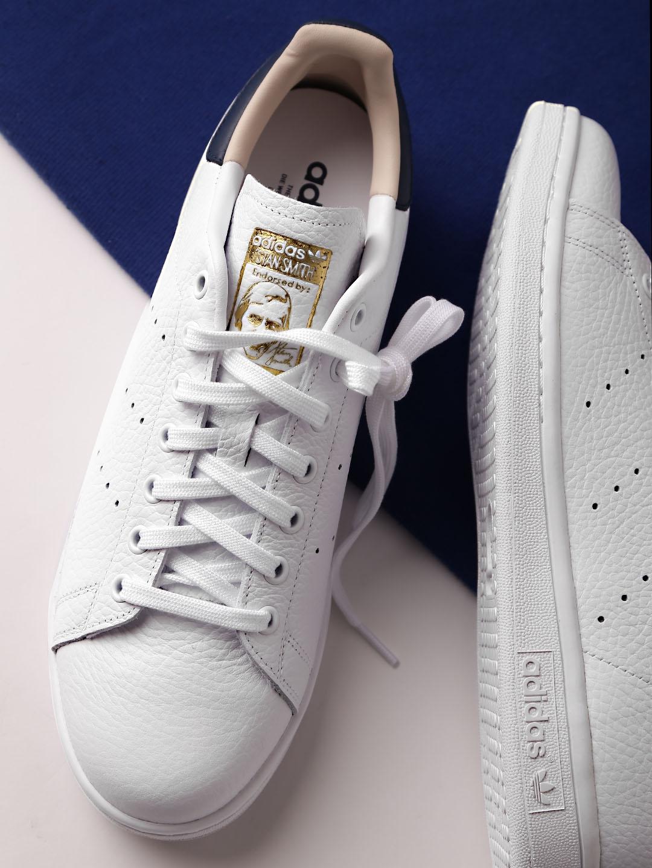 the best attitude c3e87 f0a60 ADIDAS Originals Men White Stan Smith Leather Sneakers