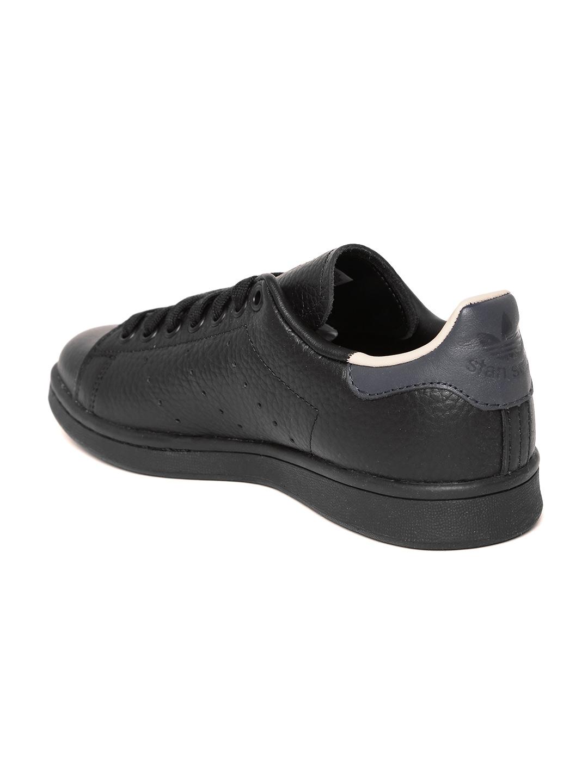 6341fc80fa6 Buy ADIDAS Originals Men Black Stan Smith Leather Sneakers - Casual ...