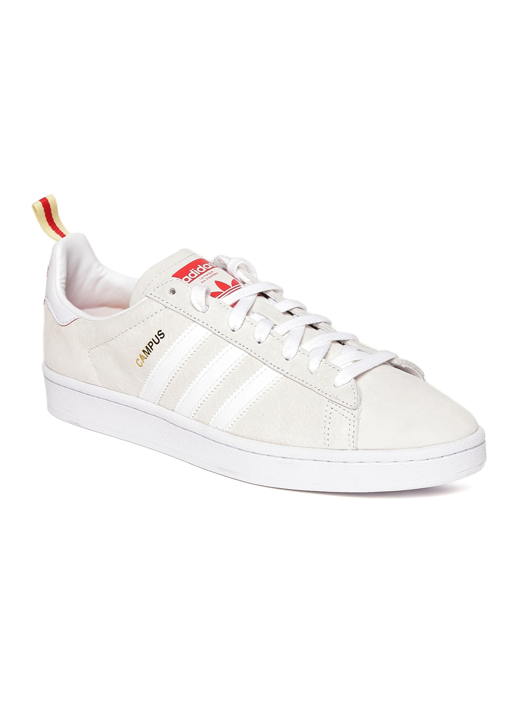 sports shoes 060ed 05612 ADIDAS Originals Men Off-White Campus CNY Leather Sneakers