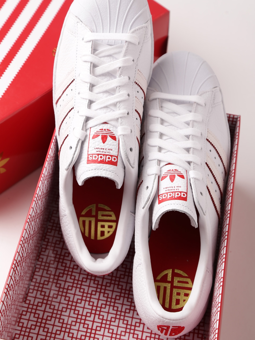 5812021b06d Buy ADIDAS Originals Men White Superstar 80S CNY Leather Sneakers ...