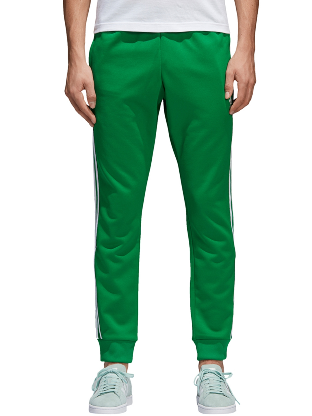 the latest bf271 9a2ac ADIDAS Originals Green SST Joggers